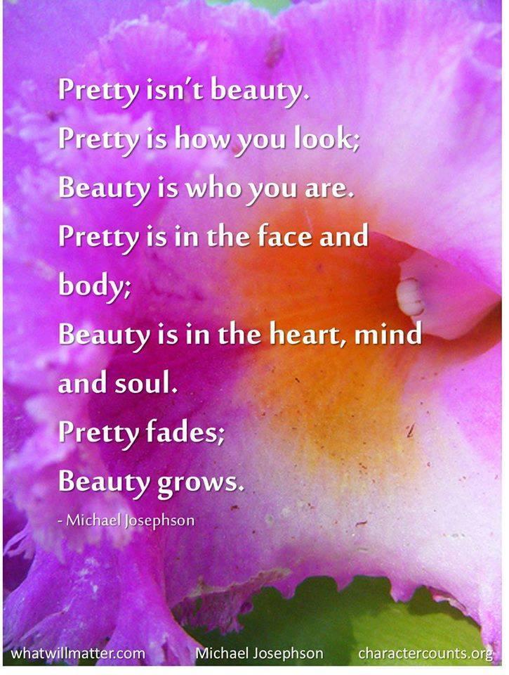 Pretty isn't beauty.