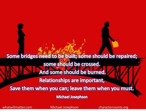 Some bridges need to be built;