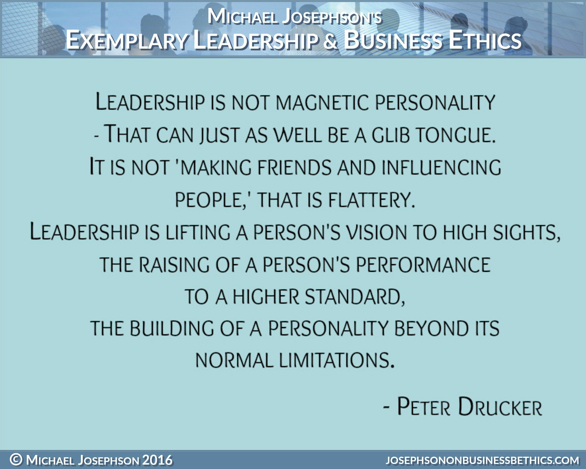 Ethics Quotes | Best Ever Poster Quotes On Leadership Exemplary Business Ethics