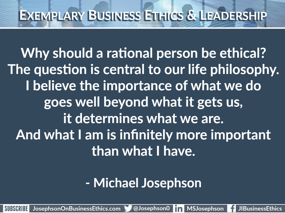 why business ethics classes should be Can business ethics be taught  as reflected in the work of our center for business ethics,  what alternative courses of action do i have.