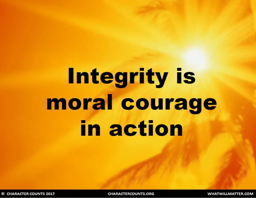 San Diego Law School >> Integrity & Moral Courage – What Will Matter