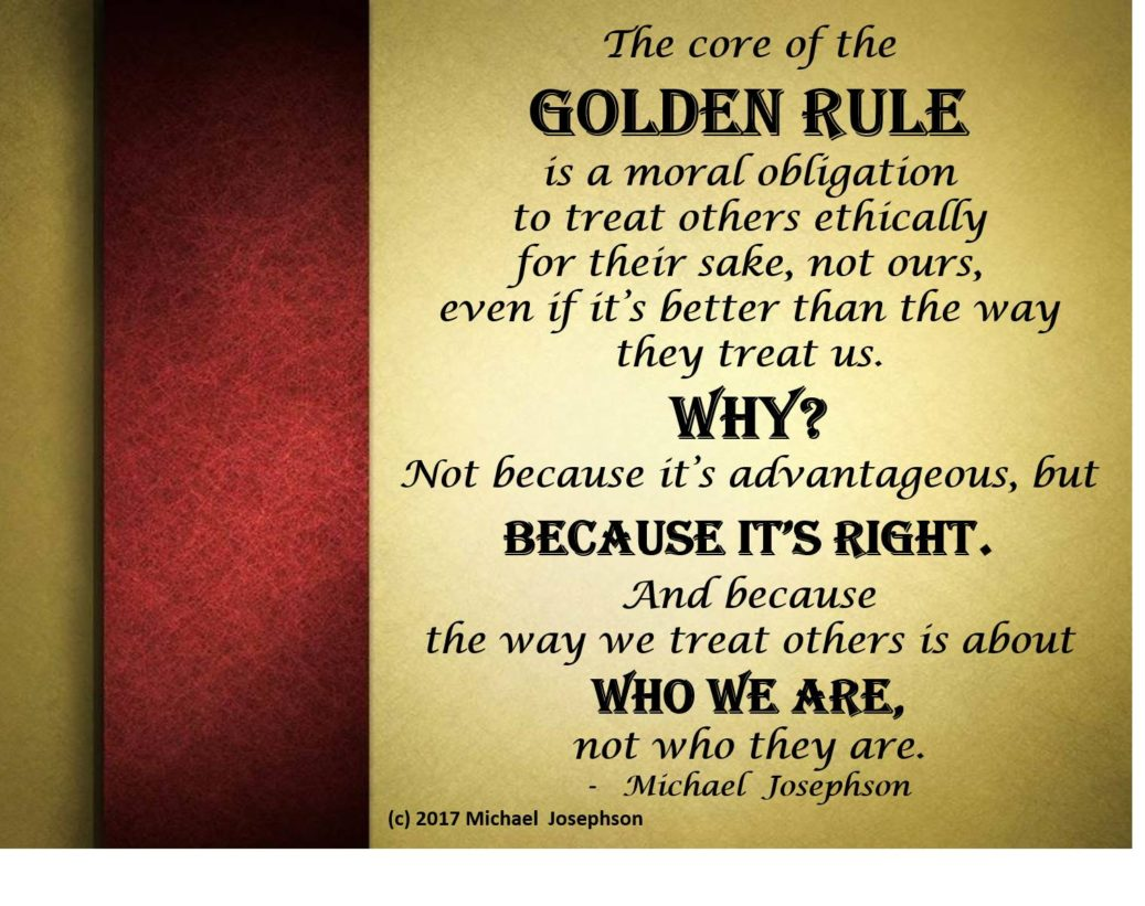 COMMENTARY: Myths About & Misuse of the Golden Rule – What